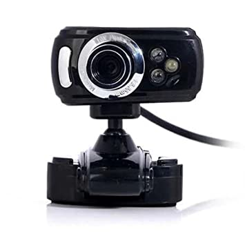 Cámara Web USB, Ainstsk HD 3LEDs Webcam Cámara, Micrófono Incorporado, Ordenador Portatil Webcam para Chat Online Calling Plug and Play: Amazon.es: ...