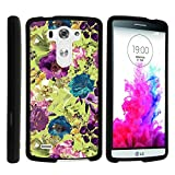 LG G3 Phone Case, Perfect Fit Cell Phone Case Hard Cover with Cute Design Patterns for LG G3 (D850, D851, D855, VS985, LS990, US990) by MINITURTLE - Yellow Purple Flowers