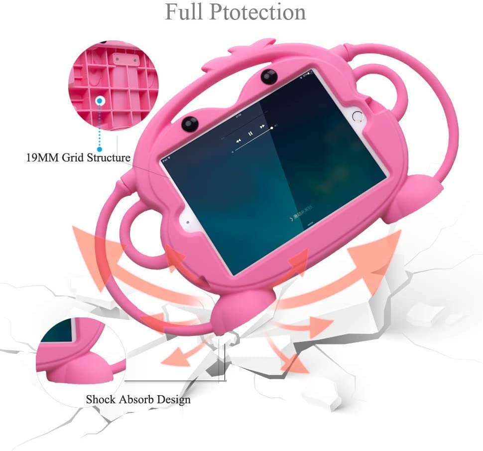 BPA FREE 5th gen, 2015 /& 7th gen, 2017 release CHIN FAI  Fire 7 Case Kids Friendly Shockproof Silicone Handle Stand Protective Cover for Fire 7 Tablet