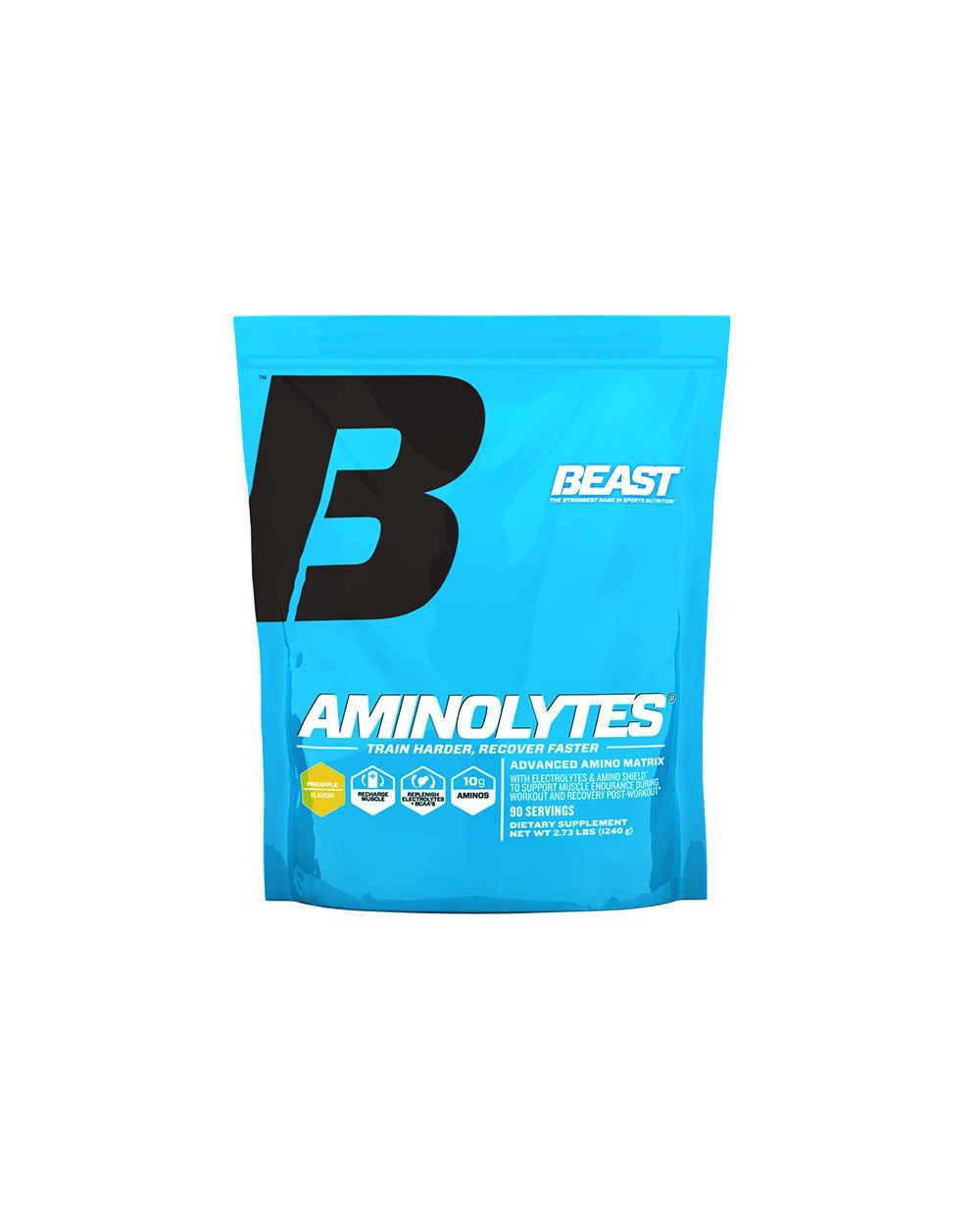 Beast Sports Nutrition, Aminolytes Advanced Amino Matrix, Pineapple, 2.7 Pound