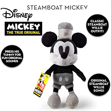 58fa17ab2fb IMC Official Disney 90th Anniversary 30cm Steamboat Willie Mickey Mouse  with Original Music  Amazon.co.uk  Toys   Games