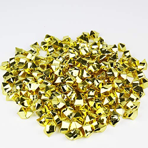 CYS EXCEL Acrylic Ice Rocks for Vase Fillers, Acrylic Gems for Table Scatters, Event, Wedding, Birthday Decoration (Acrylic Ice Gold, 4 Pounds) Wholesale Prices, Saving More!