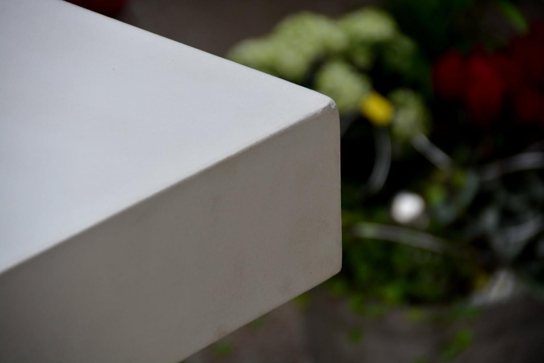 Hormigón de mesa microcement Bauhaus Diseño 244 cm x 122 cm Elegante puris mesa. Acabado Perfecto Indoor Outdoor hormigón de muebles: Amazon.es: Jardín