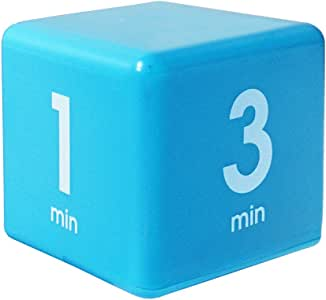 Datexx The Miracle TimeCube Timer, 1, 3, 5 and 7 Minutes, for Time Management, Kitchen Timer, Kids Timer, Workout Timer, Blue