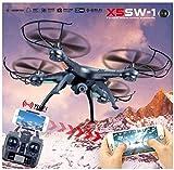 Rukiwa X5SW-1 Wifi FPV RTF 2.4G 4CH RC Black quadcopter Camera Drone with HD Camera UAV