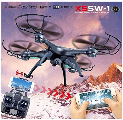 Rukiwa X5SW-1 Wifi FPV RTF 2.4G 4CH RC Black quadcopter Camera Drone with HD Camera (Four Main Blades)