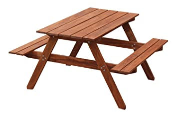 maxim wooden kids picnic table with benches outdoor patio furniture lawn garden