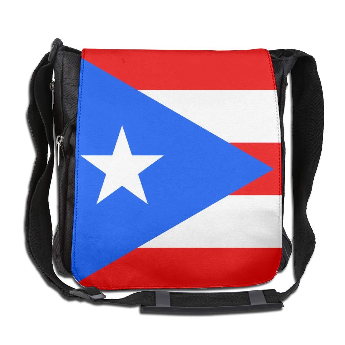 Puerto Rico Flag Crossbody Shoulder Bag Durable Casual Daily Messenger Bag Satchel School Bag For Women And Men
