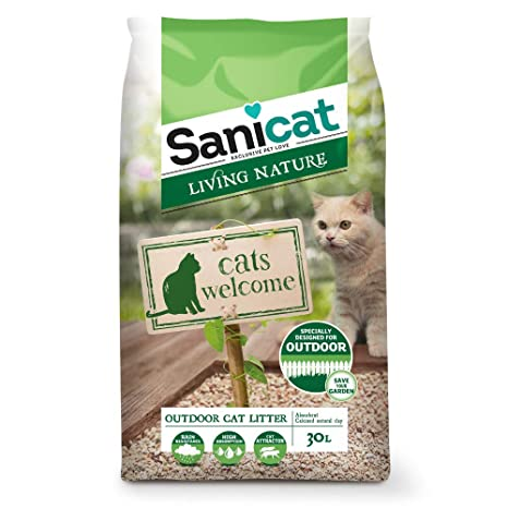 Sanicat Living Natura Arena de Gatos Exteriores para Gatos - 30L