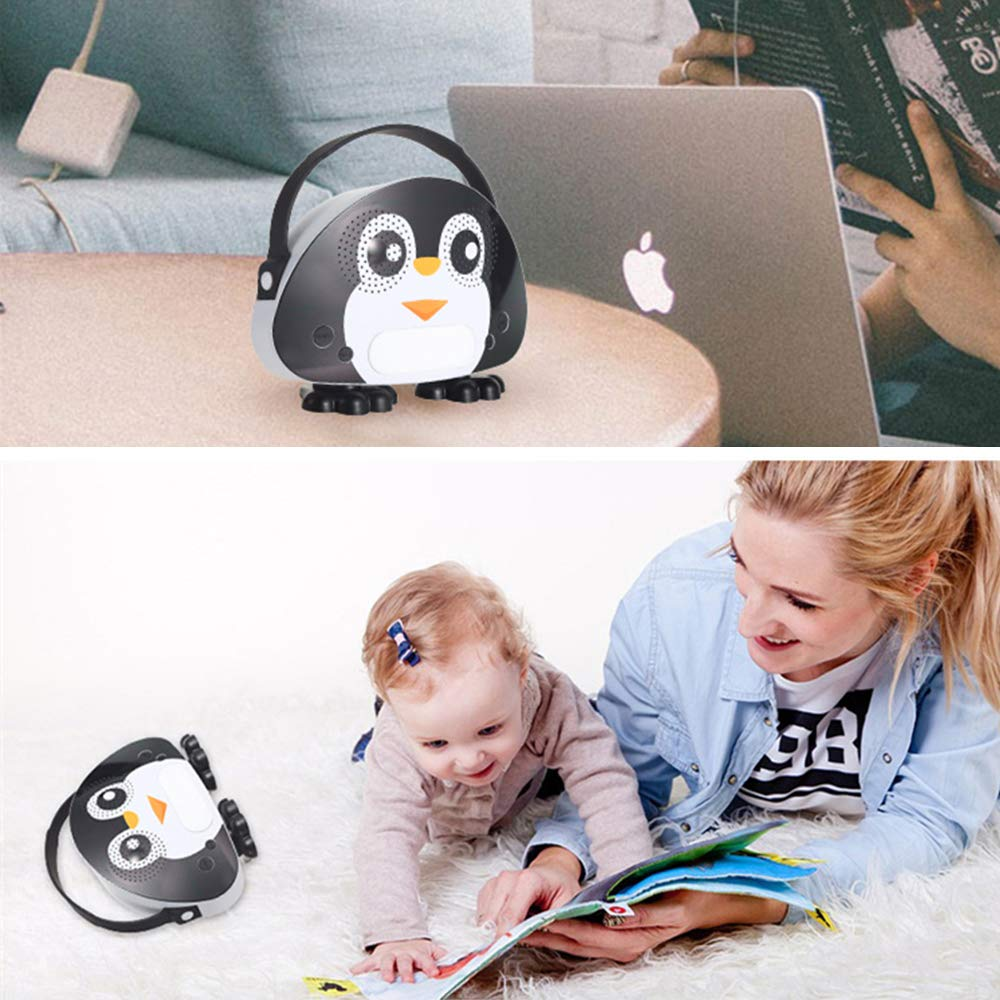 Kids Bluetooth Karaoke Machine with Microphone, Rechargeable Children's Wireless Loudspeaker Portable Cartoon Karaoke Music MP3 Player Toy with Microphone for Party Gift (Black) by OceanEC (Image #7)
