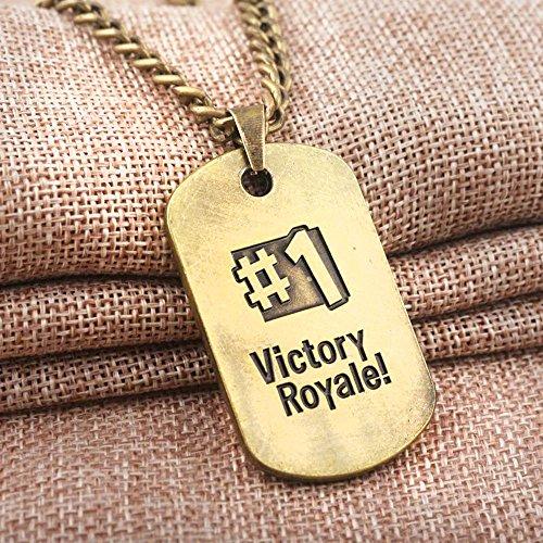Dolovely Fortnite Logo Battle Royale Game Necklace Dog Tag Pendant Necklace by Dolovely (Image #2)
