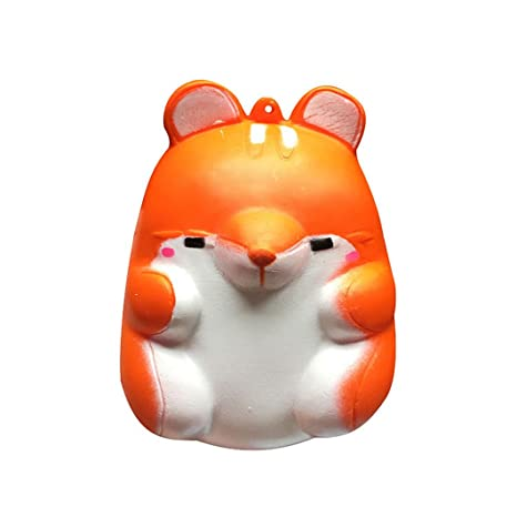 Dearmy 10cm Kawaii Suave Jumbo Squishy Anti estrés Vistoso Simulación Hámster Juguete Slow Rising para antiestrés