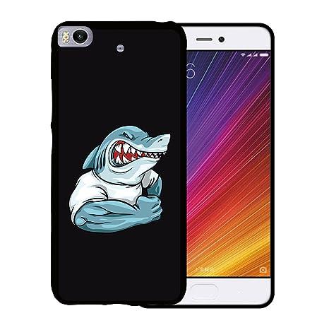 WoowCase Funda Xiaomi Mi5s | Mi 5s, [Xiaomi Mi5s | Mi 5s ] Funda Silicona Gel Flexible Mascota Tiburón, Carcasa Case TPU Silicona - Negro