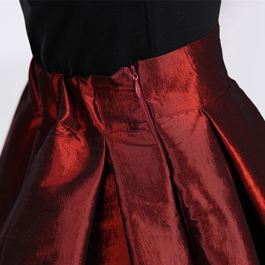 83b03bd24 LINNUO Mujeres Vintage Swing Full Circle Plisadas Faldas Casual ...