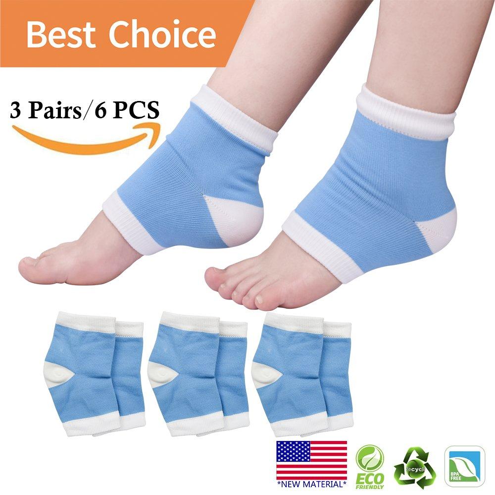 Gel feuchtigkeitsspendende Socken, Heelsocken, offene Zehensocken für trockene, rissige Fersen, gebrochene Fersen, trockene Füße, Fersenschmerzen und mehr. (3 Paar) trockene Füße pnrskter
