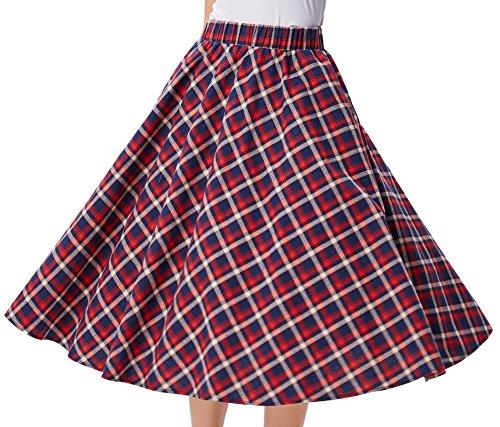 de Kasin 1 Taille Longue Coton Kk495 Jupe Jupe Casual Bal Haute Femme KK279 Midi en Kate RwPqdPZ