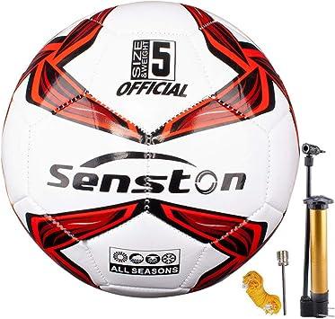 Senston Balon de Futbol Tamaño 5 Balones de Futbol Training Balón Balones de Fútbol de Entrenamiento: Amazon.es: Deportes y aire libre
