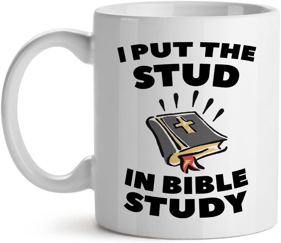 I Put The Stud In Bible Study Office Tea White Coffee Mug 15OZ