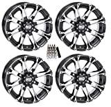 STI HD3 ATV Wheels/Rims Machined 12'' Polaris 2013 Ranger 900 XP (4)