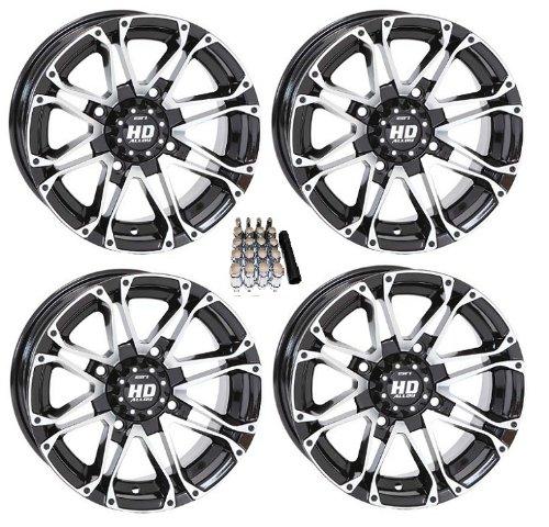 STI HD3 ATV Wheels/Rims Machined 12″ Kawasaki Teryx Mule (4)