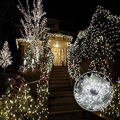 BIENNA String Lights, UL Listed Plug In 200 LED 100 ft/30M Multi Color Starry Fairy Lighting [8 Modes] [Waterproof] for Bedroom Outdoor Indoor Patio Home Christmas Xmas Holiday Wedding Party