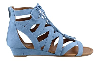 5f0c4e63f MADELINE girl Women s Saturate Flat Sandals - Blue - 5.5