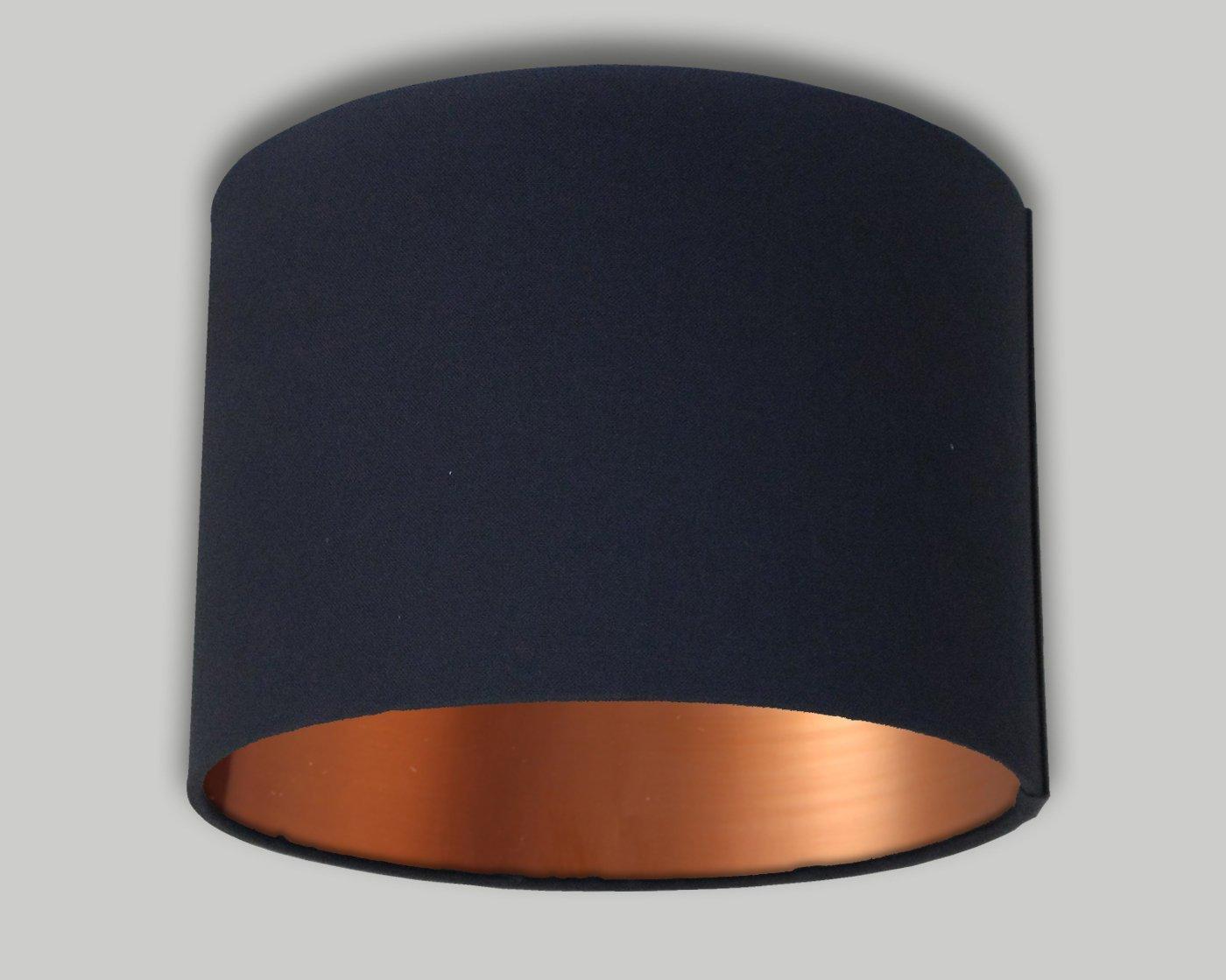 Black Drum Lampshade Brushed Copper Inner 20cm 25cm 30cm 35cm 40cm 50cm 60cm 70cm Lamp Shade Lightshade