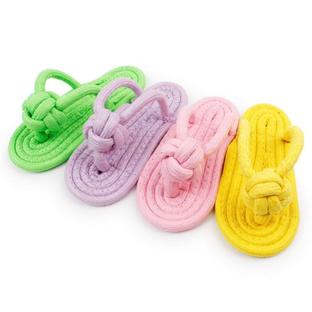 Yimosecoxiang Superbe et Convient pour Animal Domestique Fournitures pour Animal Domestique Candy Couleurs tressé Chaussons Toys DIY Piqueurs Dents Outil de meulage