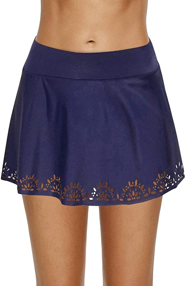 Falda de baño de Cintura Alta para Mujer Falda de baño de Encaje ...