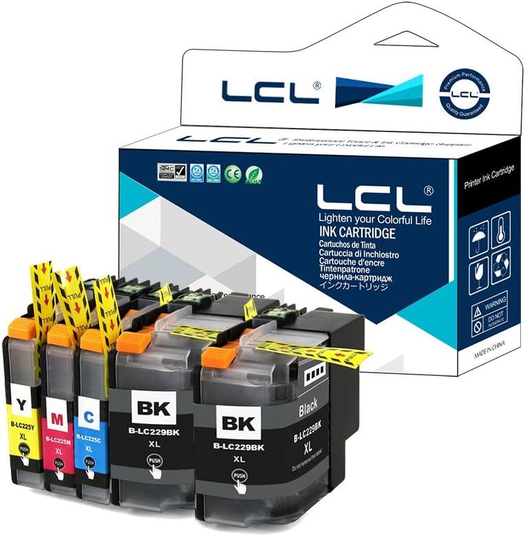 LCL Cartucce dinchiostro Compatibile 100XL 105XL 108XL 1Nero 1Ciano 1Magenta 1Giallo Sostituzione per LEXMARK Impact S300 S301 S302 S305 S308 S402 S405 S408 S409 Intuition S502 S505 S508 S605 S608