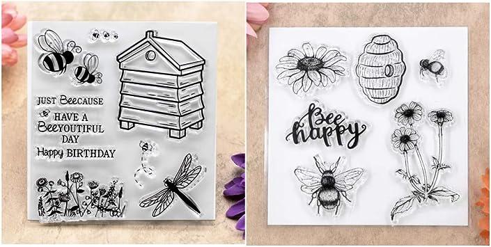 Amazon.com: Kwan Crafts 2 hojas de diferentes estilos abejas ...