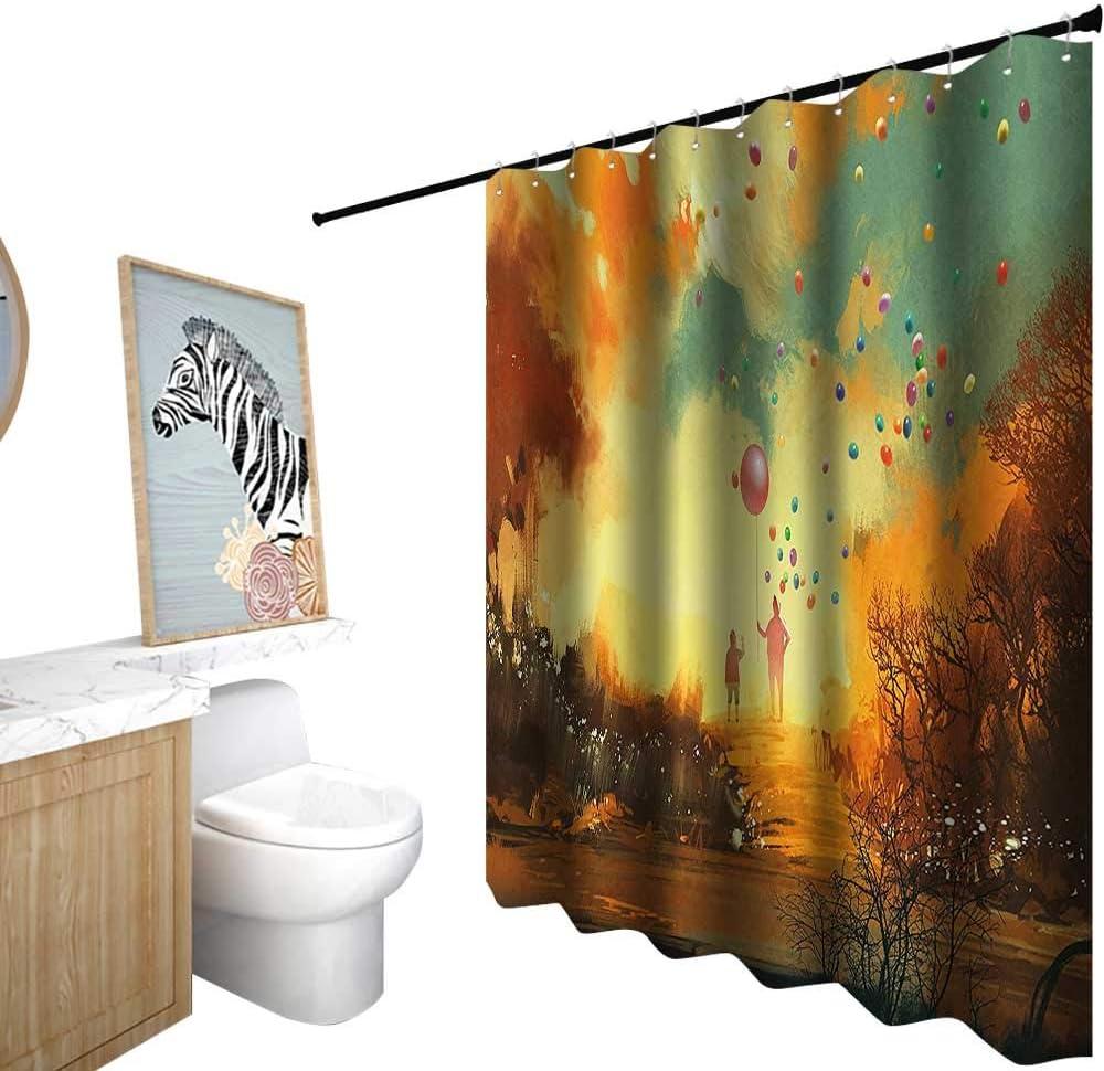 Cortinas de ducha con diseño de océano, fantasía, ciencia ficción, espacio exterior con superficie planetaria Cosmos gráfico, cortina de ducha para mampara de ducha, caléndula de color rojo rosa: Amazon.es: Hogar