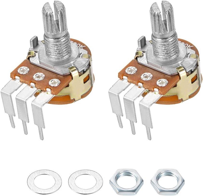 uxcell WH148 Potenciómetro con interruptor 100K Ohm resistencias ...