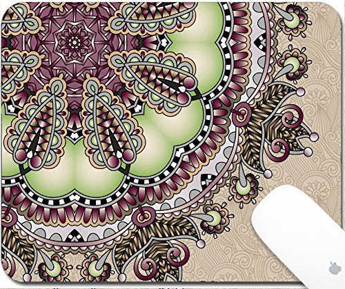 pad 9.25in X 7.25in IMAGE: 32289170 floral round pattern in ukrainian oriental ethnic style for your greeting card or invitation template design for card vintage lace doily vecto (Doily Lace Labels)