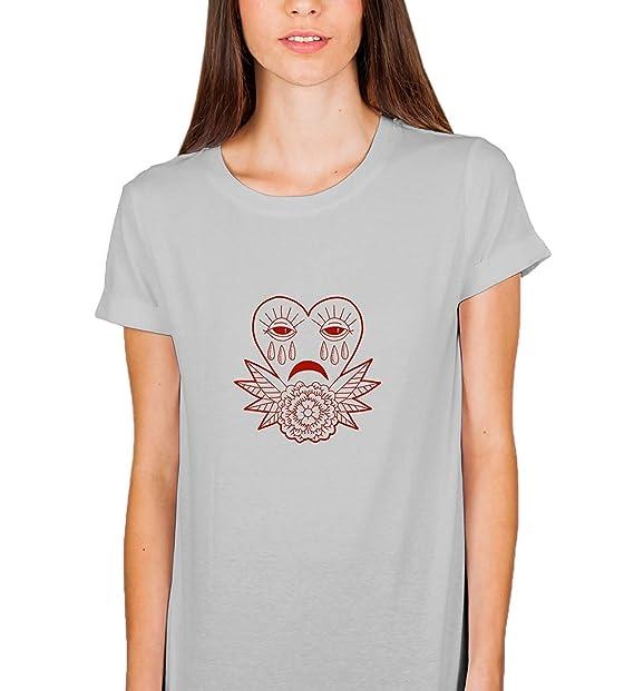 bc0f33756 Amazon.com: SCENTEE Sad Flower Heart Crying Tears_005448 Tshirt T Shirt T-Shirt  Tee Women Gift Ugly: Clothing