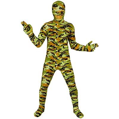 Commando Kids Morphsuit Costume - size Medium 3'6-3'11 (105cm-119cm): Toys & Games