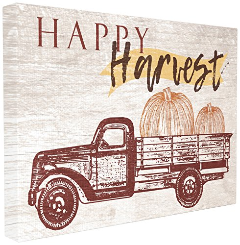 Stupell Home Decor Collection Happy Harvest Giant Pumpkin