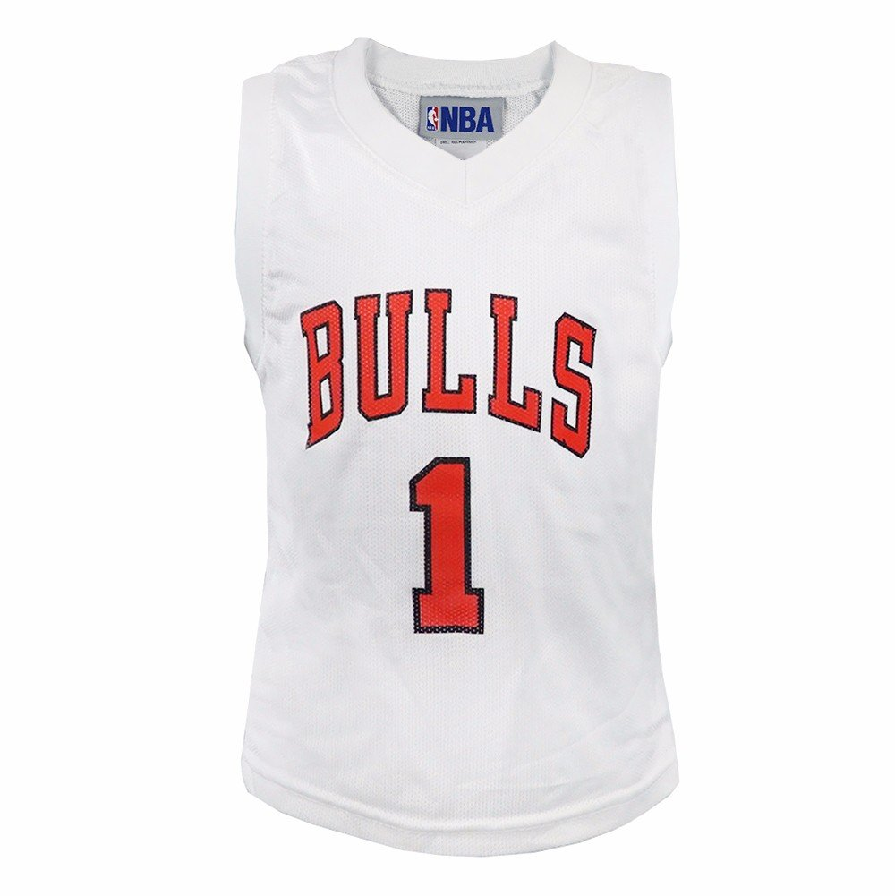 11fed9d56 Amazon.com : adidas Derrick Rose Chicago Bulls NBA White Official Road  Replica Basketball Jersey for Toddler : Clothing