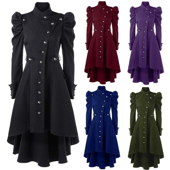 Amazon.com: STORTO Womens Vintage Steampunk Long Coat,Plus Size Gothic Retro Button Jacket: Clothing