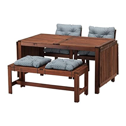Awesome Amazon Com Ikea Applaro Table 2 Armchairs And Bench Brown Unemploymentrelief Wooden Chair Designs For Living Room Unemploymentrelieforg