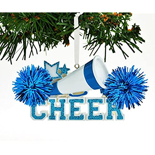 PERSONALIZED CHRISTMAS ORNAMENT CHEERLEADER BLUE CHEER - Cheer Christmas Ornaments: Amazon.com