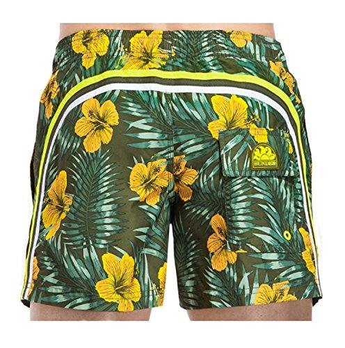 Costume Sundek m504bdpbdpo1cf 302 elastic waist 14 ar green medio ss17