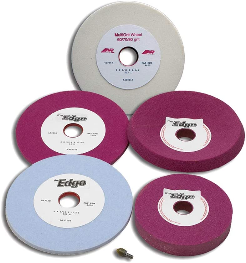 """The Toughest Gear For The Toughest Games A/&R Sports 8/"""" 80 grit Ruby Grinding Wheel 6 Pack"""