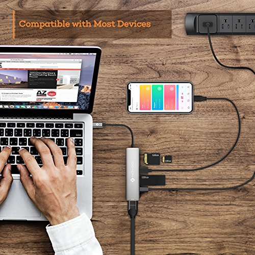NOVOO USB C Hub 6 in 1 with HDMI 4K Adapter, USB C PD Power Delivery Charging Port, 2 USB 3.0 Ports, 1 SD Memory Port, 1 MicroSD Card Reader Compatible with MacBook Pro 2017/2016, HW MateBook and More by Novoo (Image #5)