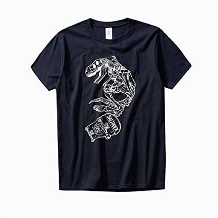 FLYMD Round Collar Short Sleeve Camisetas Impresas con Letras y Camisas clásicas de algodón de Manga