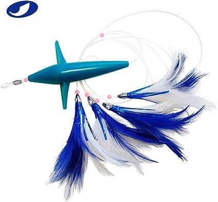 Custom New Beautiful Ballyhoo Rig Bird//Squid Daisy Chain 4 Colors FREE SHIP!!!!