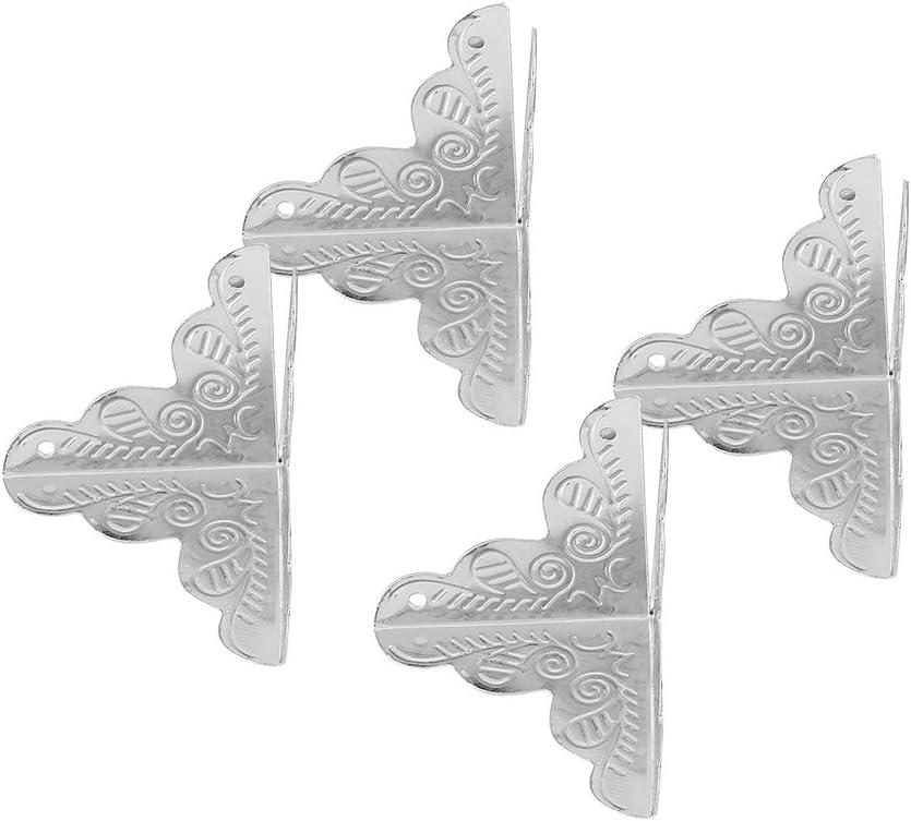 Bronce Asixx 12 Piezas Protecci/ón de Esquina Preoteger Caja de Madera,Mesa,Cajas de la Joyer/ía del Lat/ón Antiguo