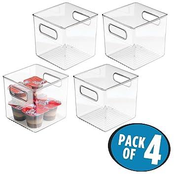 Küchen Aufbewahrungsbehälter mdesign 4er set kühlschrankbox 15x15x15 cm stapelbare