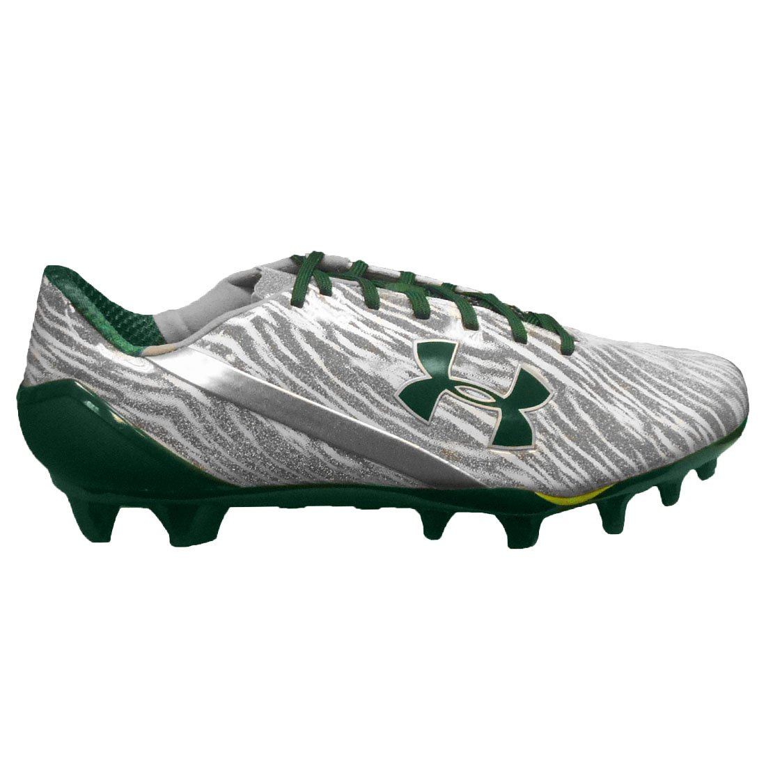 1246b0fbe Under Armour Men's Spotlight Mc Football Cleats Metallic Silver/White/Green  15 D(M) US: Buy Online at Low Prices in India - Amazon.in