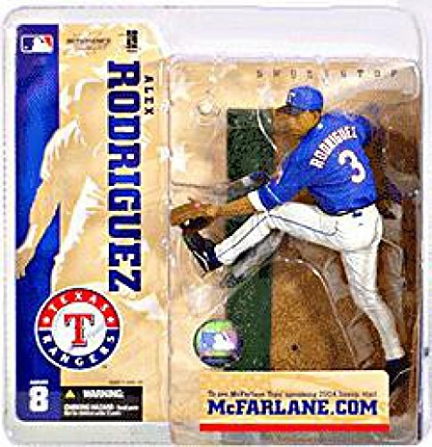 (MLB Series 8 Figure: Alex Rodriguez with Blue Rangers Jersey (Home))